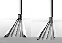 frameless glass sliding door rail